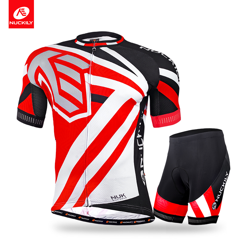Nuckily summer short sleeve biking jersey with cycling short professional high quality set for men  MA013MB013 nuckily ma008 mb008 men short sleeve bicycle cycling suit