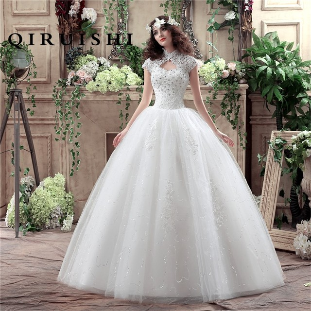 Free shipping New Style Lace Wedding Dress Korean Style Simple ...