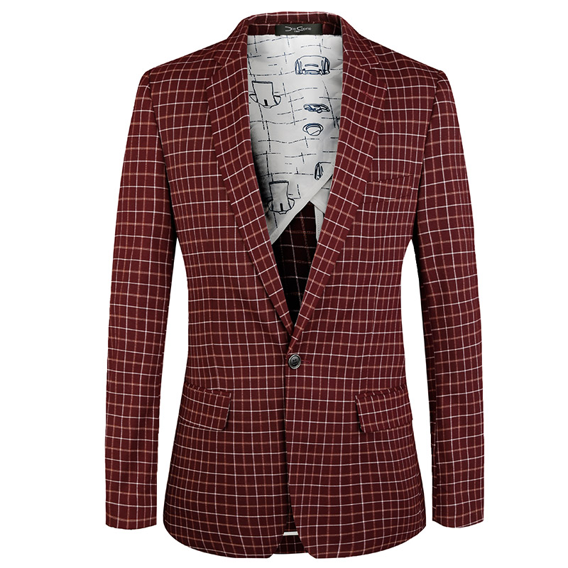 luxury brand Men Jacket 2018 New Summer euro plus size coats Casual Banquet Mens blazer Designer Fashion Plaid Suit Jackets
