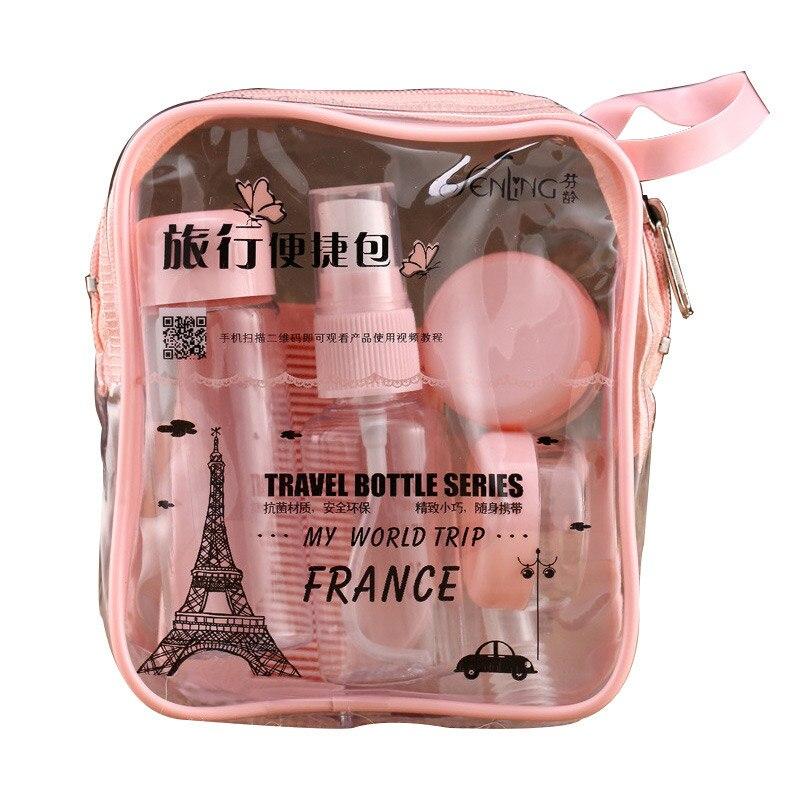 8pc/Set Travel Mini Makeup Cosmetic Face Cream Pot Bottles Plastic Transparent Empty Make Up Container Bottle Travel Accessories