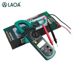 LAOA pitny cyfrowy zacisk ręczny tester elektryczny multimetr AC/DC testowanie elektryk narzędzia