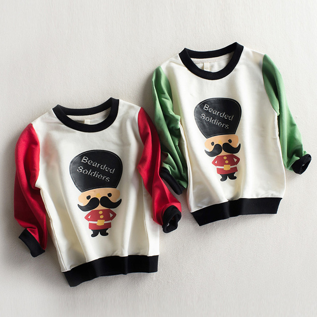 Primavera Roupas Da Menina Da Criança T-shirt 2017 Da Marca impresso Padrão dos desenhos animados dos meninos crianças Camisola Nova chegada Top T camisa Do Bebê Menino