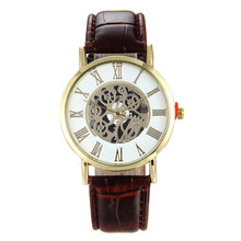 New Black Men's Skeleton WristWatch Stainless steel Antique Steampunk Casual Automatic