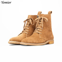 Classical Chelsea Boots British Style Fashion Handmade High Quality Cow Leather Boots Casual Wedding Platform Men