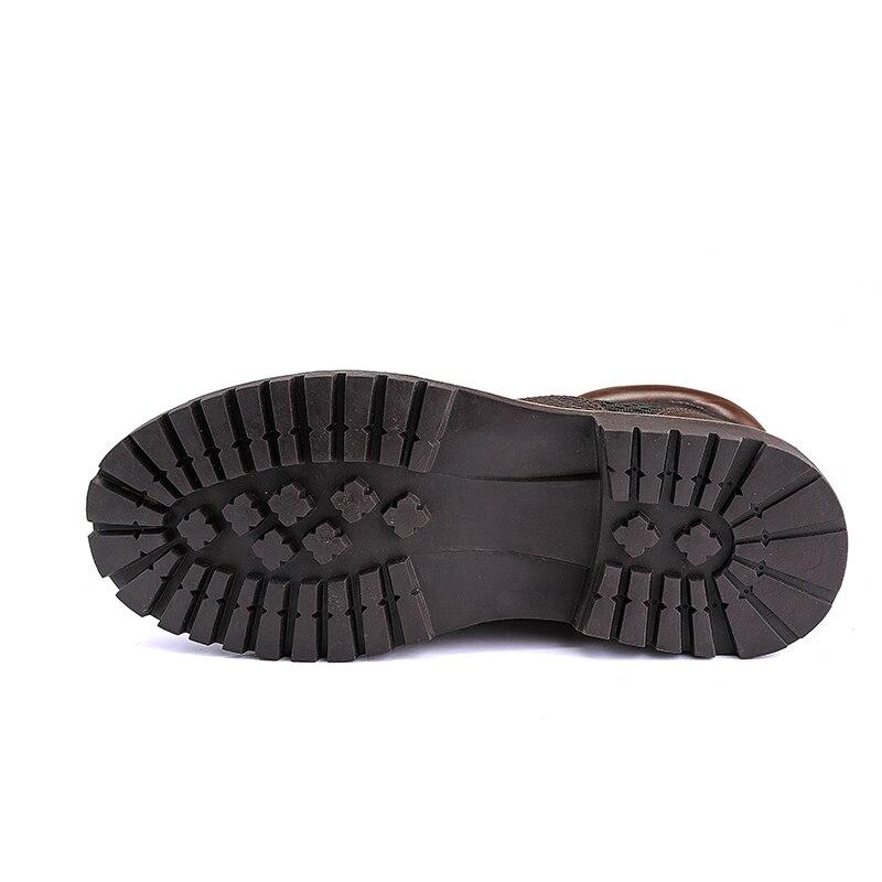 Redondo brown Pie Hikin Del Cuero Hombres Dedo Zapatos Negro La Resistente Misalwa Agua Al Botas Black Los Motocicleta Seguridad De Trabajo qqRA8w