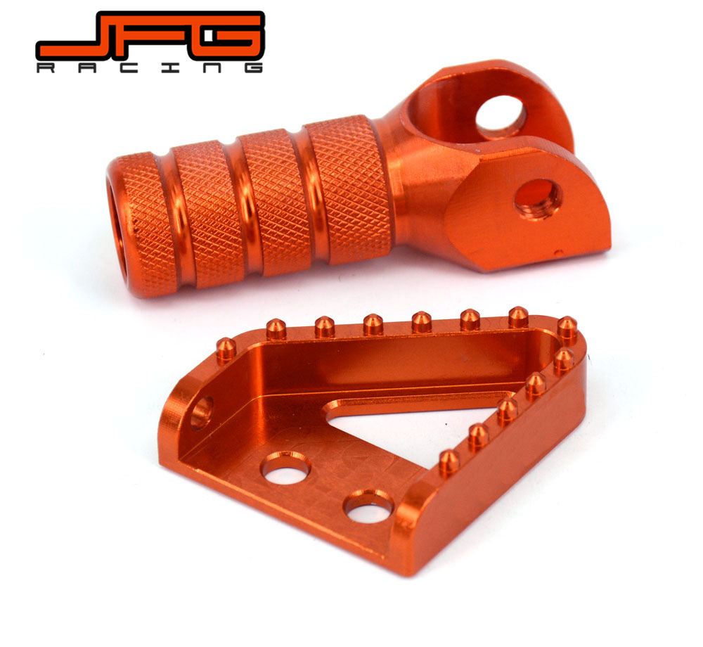 Rear Brake Gerl Shifter Lever Pedal Step Tips For KTM EXC XC SX XCF SXF EXC-F XCF-W EXCF XCW MX 125 250 350 530 SMC 690 950 990 orange billet rear brake pedal step tip for ktm 125 530 690 950 990 sx exc xcf sxf xc xcw excf excw excf duke adventure