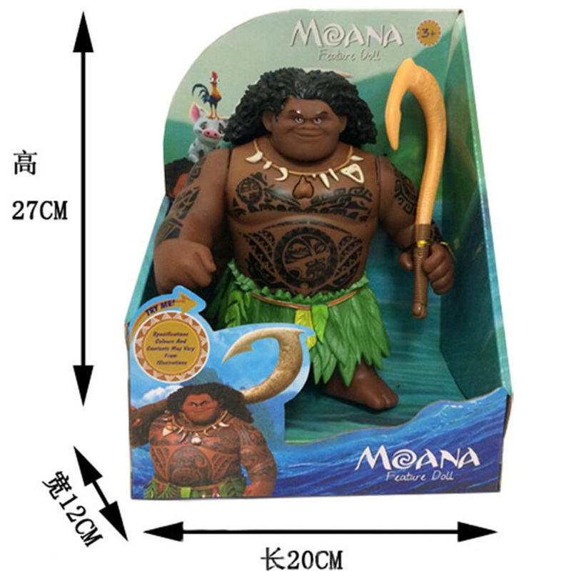 Image 3 - Disney Toys Movie Moana Waialiki Maui 20cm Doll Model with Music Action Figure Cosplay Childrens Birthday Gift Christmas GiftAction & Toy Figures   -