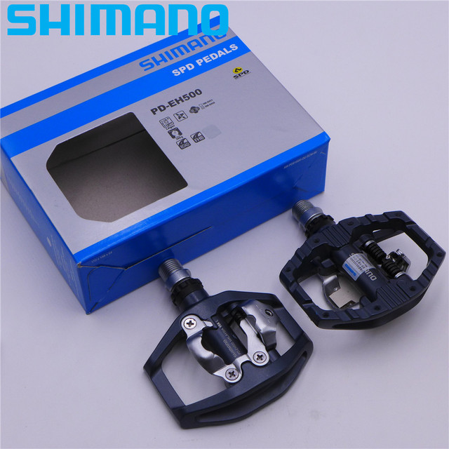 88b75748e SHIMANO PD EH500 Dual-Sided Platform   Clipless SPD Pedals with Cleat  SM-SH56 Original PD-EH500