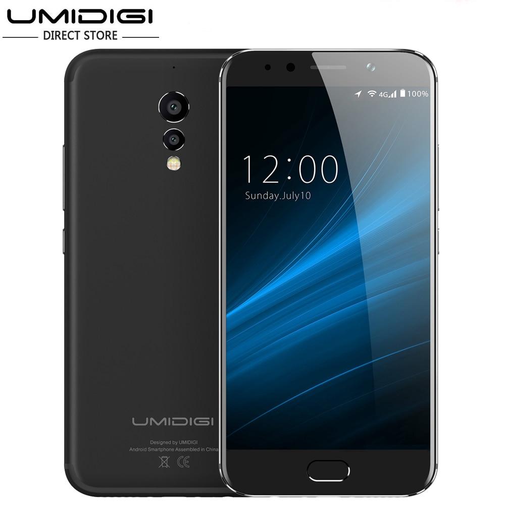 "Original UMIDIGI S Mobile Phone 4GB RAM 64GB ROM 4000Mah 5.5"" 13MP + 5MP Rear Camera MTK Helio P20 Octa-Core"