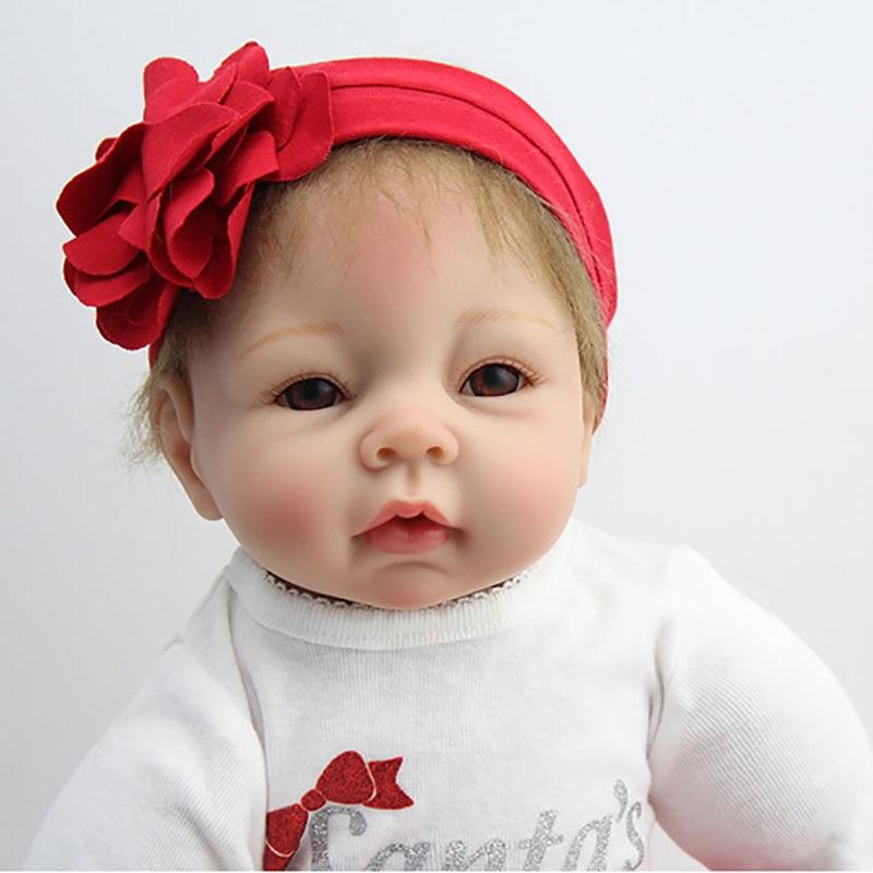 Buy Lifelike Newborn Cute Reborn Baby Doll 22 Inch 50cm Realistic Silicone Baby Doll Reborn Doll Soft Vinyl Silicone Baby  Girl Gift