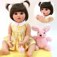 Bebes reborn girl dolls 56cm full vinyl silicone reborn baby dolls real princess toddler newborn baby doll gift bonecas