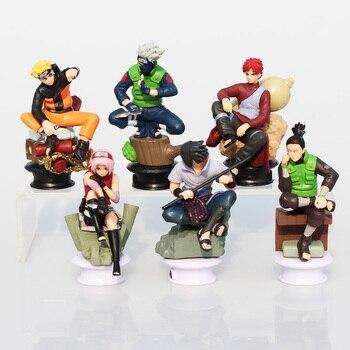 6 adet/takım Naruto Uzumaki Naruto Uchiha Sasuke Kakashi Sakura Gaara Aksiyon Figürleri Oyuncaklar PVC Bebekler 7 ~ 10 cm Büyük hediye