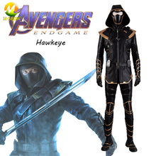 Avengers Endgame Marvel Hawkeye Costume Cosplay Hawkeye Clint Barton Hoodie Jacket Halloween Carnival Party Full Set