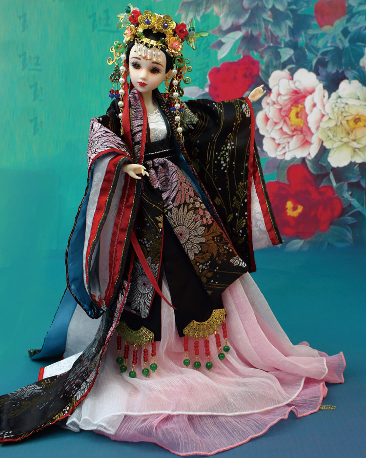 35cm Handmade Collectible Chinese Queen Dolls / Super White Skin / 12 Joints Movable / Exquisite Makeup Ancient  BJD Girl Dolls handmade ancient chinese dolls 1 6 bjd jointed doll empress zhao feiyan dolls girl toys birthday gifts