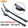 Qeepei lâmina vw sharan 1996-2001 28 ''+ 28''r iso9000 de alta qualidade borracha natural limpar frente windshield cpu301-1