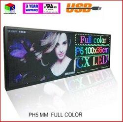 RGB كامل اللون P5 داخلي LED رسالة تسجيل تتحرك التمرير led عرض المجلس لمتجر والنوافذ