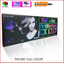 RGB Full color P5 Indoor LED Message Sign Moving Scrolling led Display Board for shop& windows
