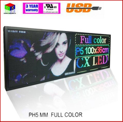 Rgb Full Color P5 Indoor Led Message Sign Moving Scrolling Led Display Board Voor Winkel & Windows