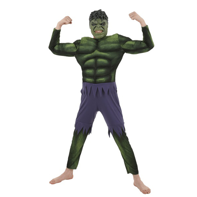 On Sale Adult Men's Muscle Hulk Halloween Costume Marvel Avengers Superhero Fantasy Movie Fancy Dress Cosplay Clothing 1