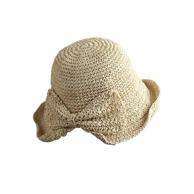 Bow Straw Weave Fisherman's...