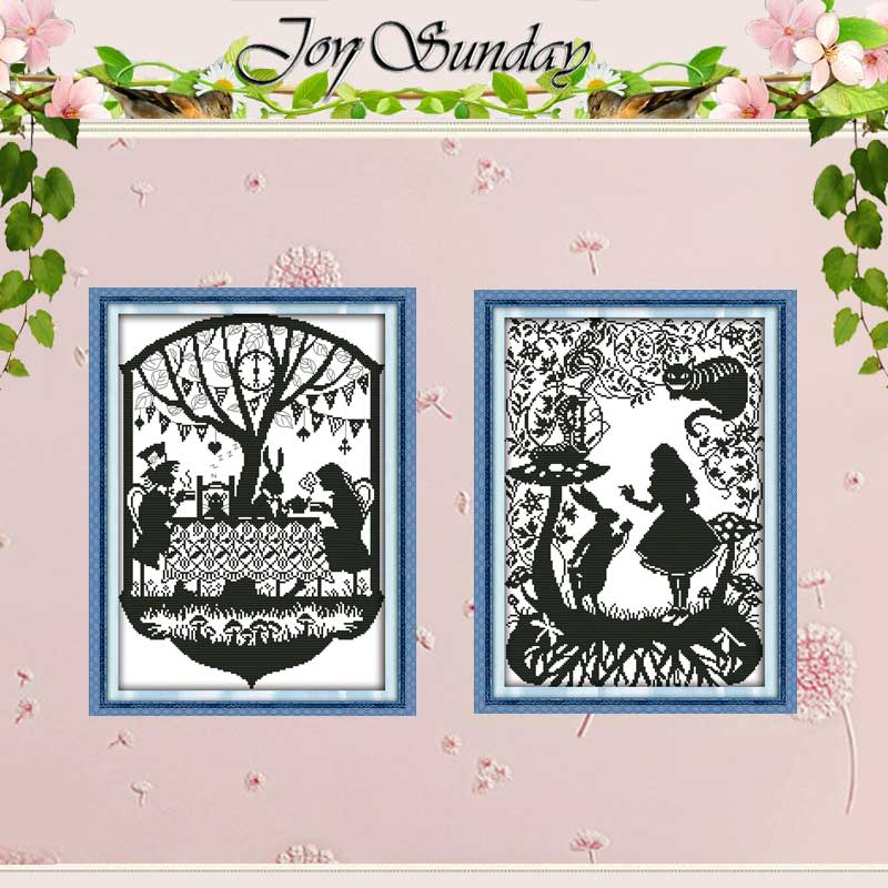 Fairy Tales Patterns numărate Cross Stitch 11CT 14CT Set Cross Stitch Set de fantezie en-gros Set de cusaturi de broderie Needlework
