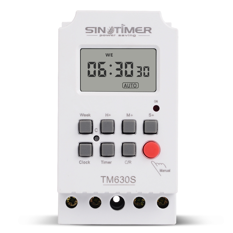 AC 220V DC 12V Second Setting Digital Timer Switch 24hr 7 Days Weekly Programmable Time Relay Voltage Output High Load Power 30A 0 01 999 second 8 terminals digital timer programmable time relay