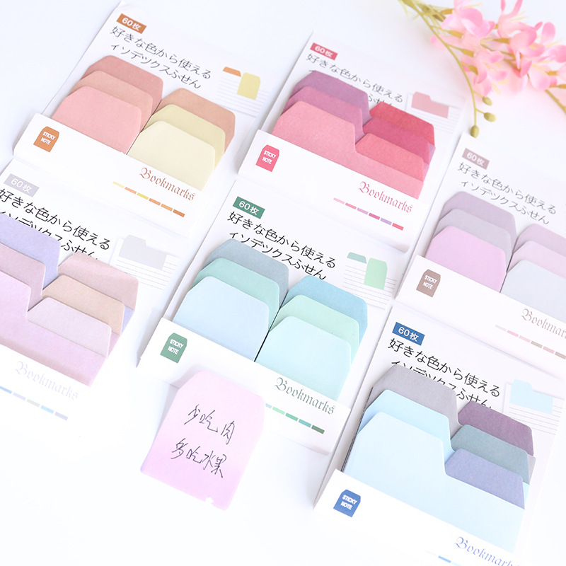 NOVERTY Colorful Schedule Index Stickers Planner Kawaii Sticky Notes Stationery Planner Stickers Memo Pad Cute Notepad 01910