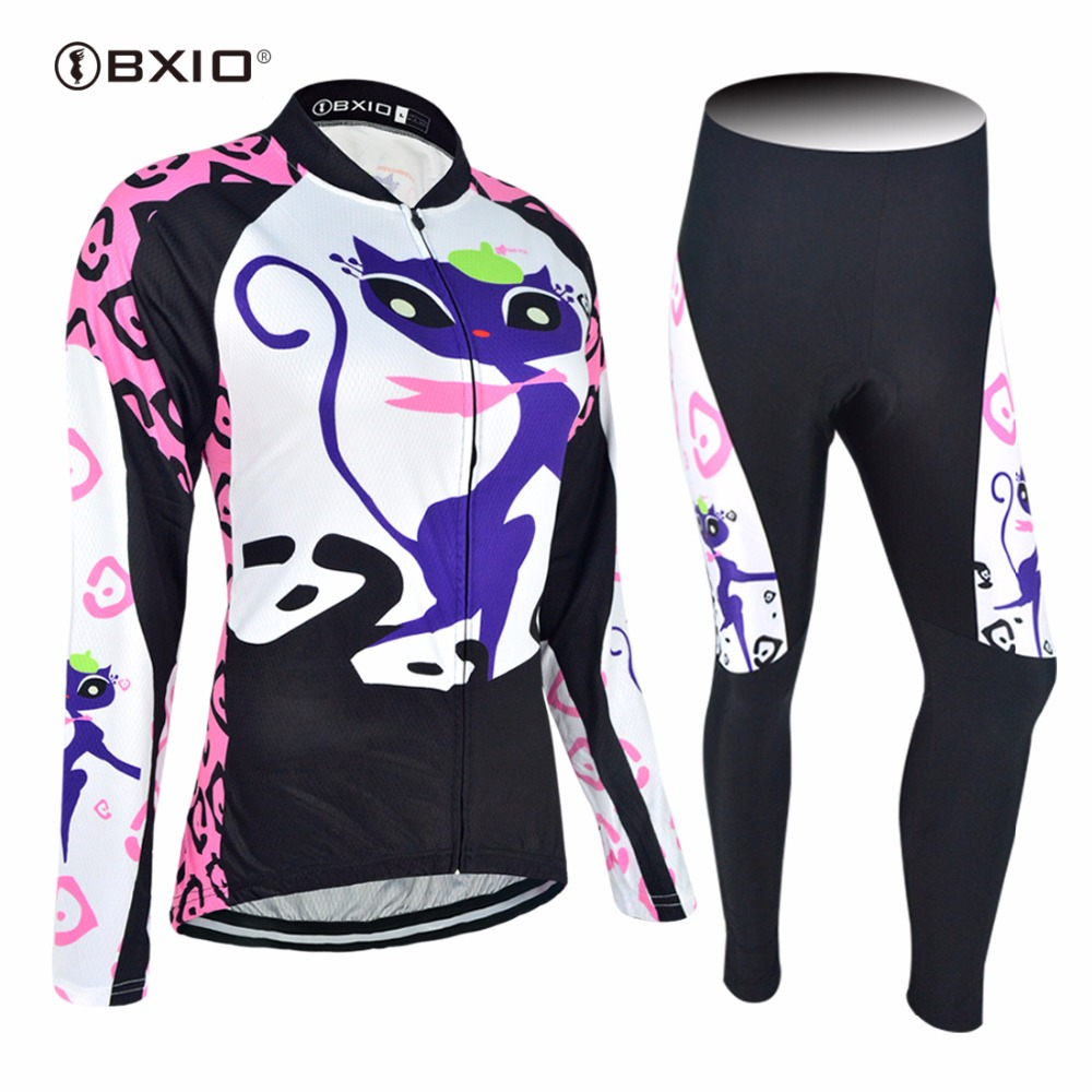 2017 New Arrival Bxio Women Cycling Jerseys Long Sleeve Bicycle Jersey Pro Team Autumn Bike Clothing