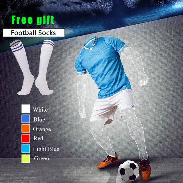 8d8a87c5932f5 2018 barato DIY ropa deportiva para adultos y niños juego de fútbol  personalizado camisetas de fútbol