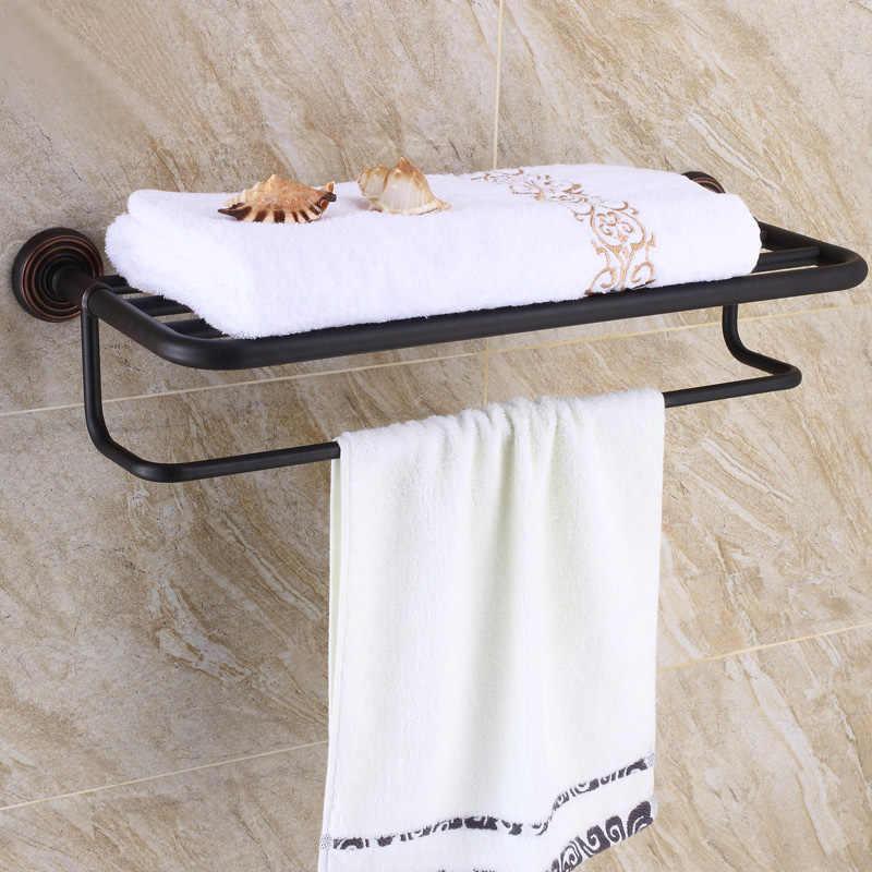 Czarny oleju wcierane brąz łazienka sprzętu zestaw półka na ręczniki wieszak na ręczniki uchwyt na papier tkaniny hak KD969