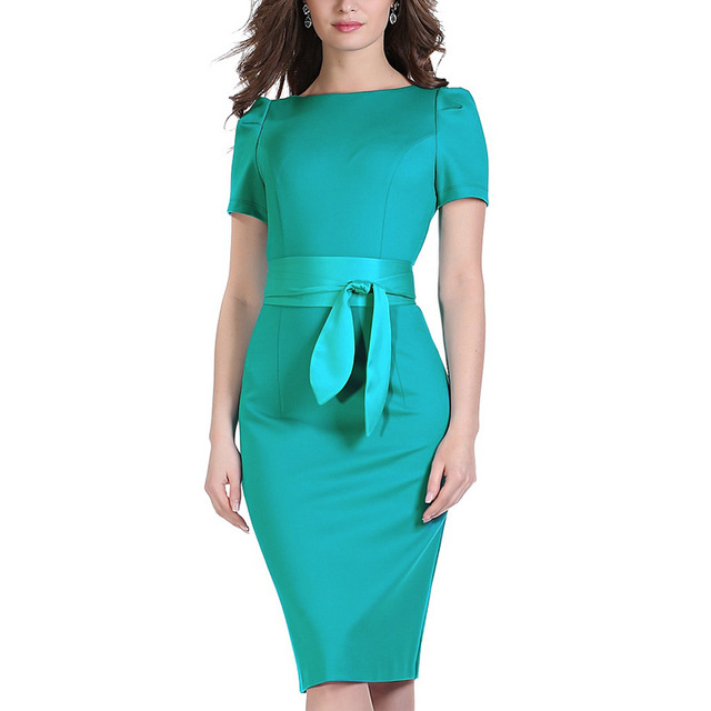 Brand Elegant Sexy O Neck Tunic Work Party Evening Sheath Pencil Dress With Sashes knitted Bodycon Winter Dress Vestido