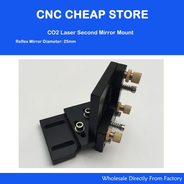 DIY Co2 Laser Second Reflection Dia 25mm Mirror Mount Support Integrative Holder for Laser Engraving Cutting Machine