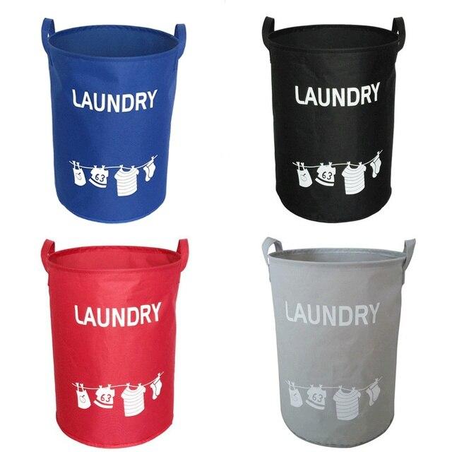 Waterproof Foldable Oxford Clothing Laundry Storage Basket Washing