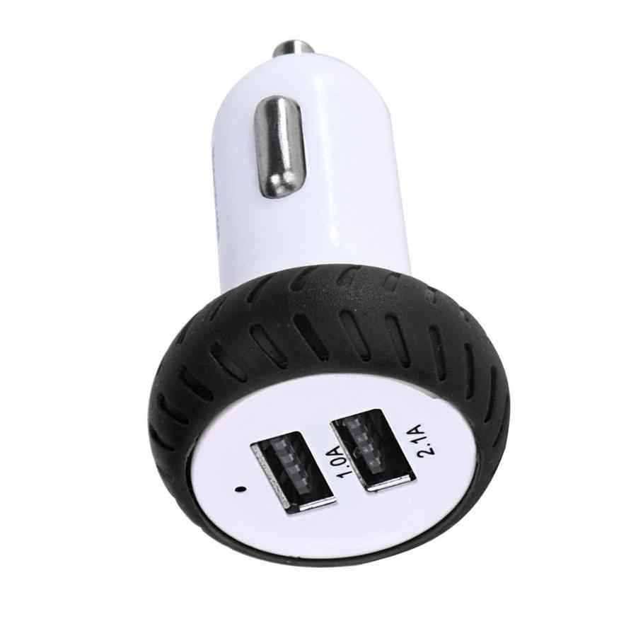 WUPP Car Electronics for Mini Dual 2 Port 12V USB Auto In Car Charger Adapter Adaptor Charging Charger  Adaptor Quick Charger#LD