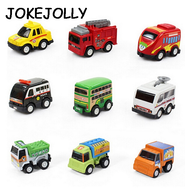 6pcsset new classic boy girl truck vehicle kids child toy mini small pull back
