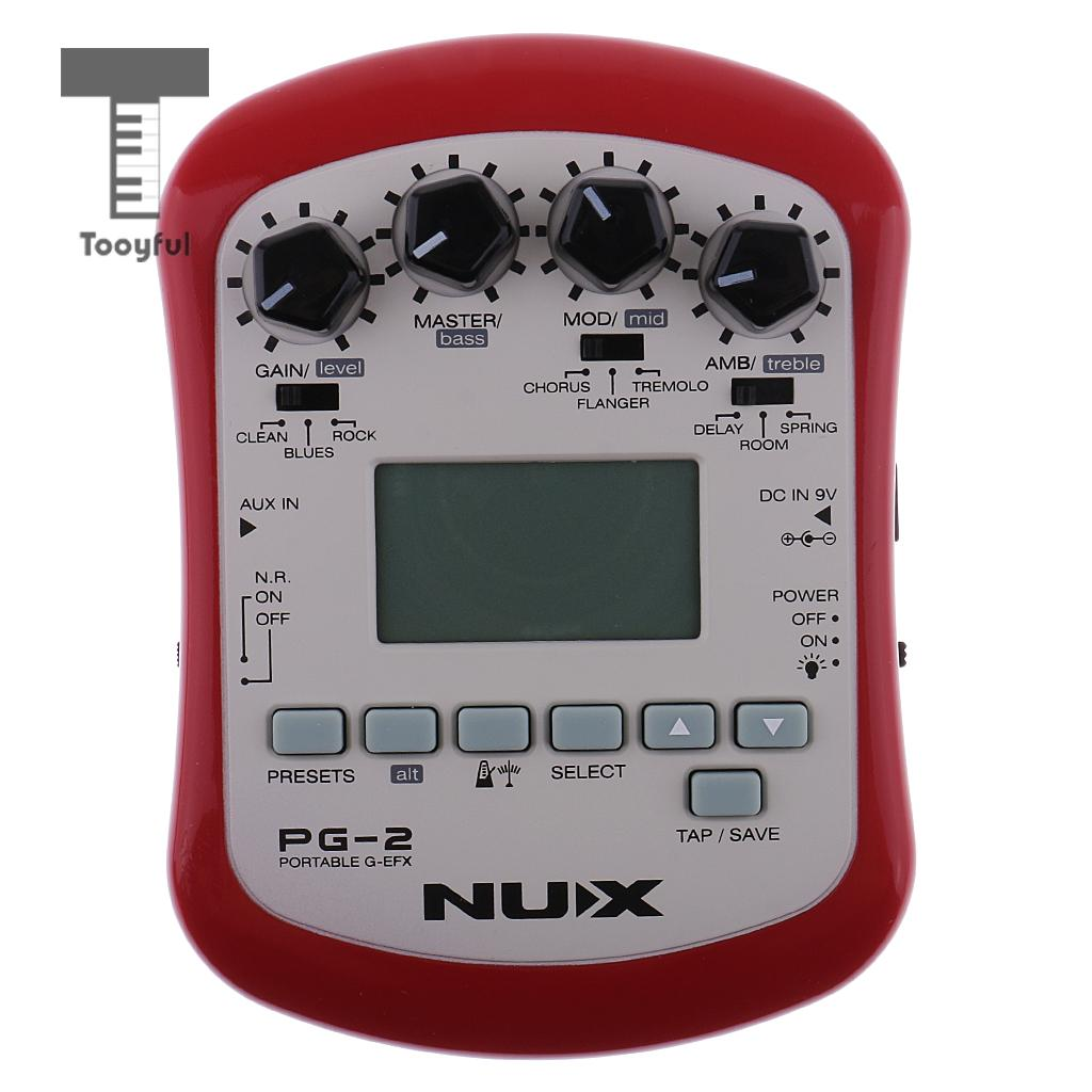 NUX PG-2 Electric Guitar Effect Pedal Processor Chromatic/Guitar Tuner Metronome for Guitar Parts nux ds 3 guitar effect pedal amplifier simulator guitar parts