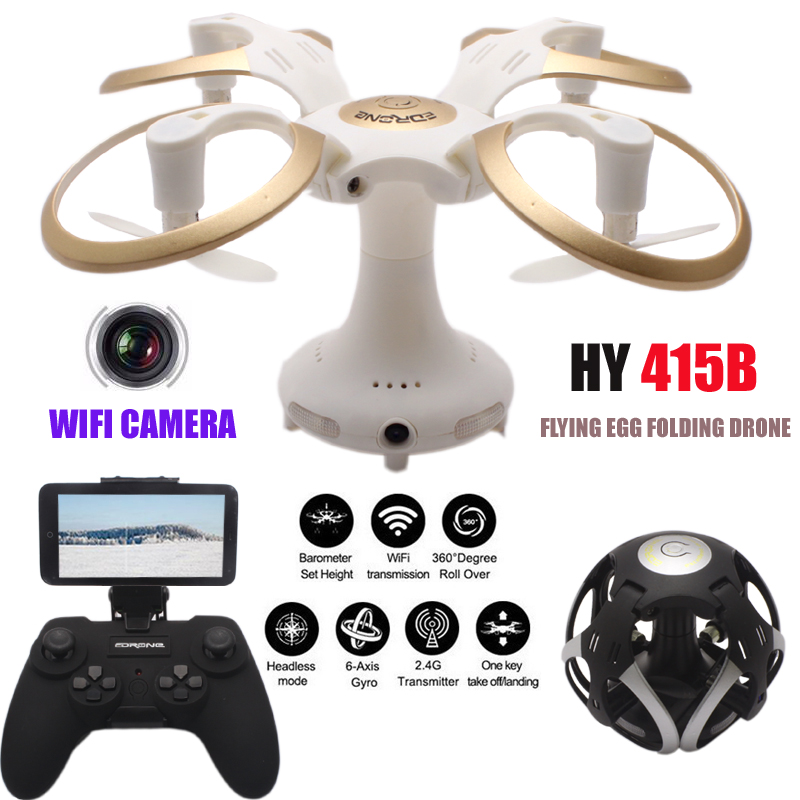 HY415B Dron EGG Mini Drone With Camera HD Selfie Quadrocopter FPV Quadcopter Headless Helikopte Remote Control Helicopter RC Toy