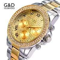 2017 G D Luxury Golden Womens Watches Womem S Bracelet Watches Ladies Dress Watch Relogio Feminino