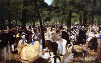 Music in the Tuileries Garden Edouard Manet painting for sale Hand painted High quality
