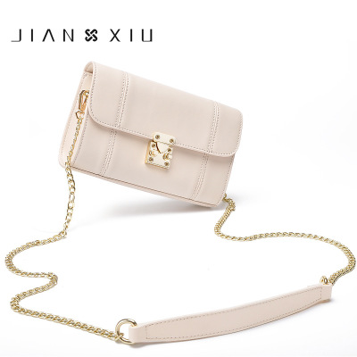 0018 JIANXIU Leather handbags spring and summer new ladies ladies shoulder bag Messenger bag Japan and South Korea mini chain japan and south korea in 2016 the new evening bag luxury sequins mesh ladies handbags fashion high grade magnetic buckle bag