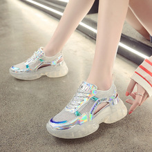 Baotou sandals summer 2019 new Korean version of the wild thick bottom breathable jelly bottom children's shoes 2018 new sandals female summer student korean version of the wild simple baotou thick bottomed retro wedge shoes