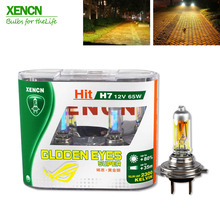 XENCN H7 12V 65W 2300K Golden Eyes Super Yellow Bright Car Halogen Head Light Quality Auto Lamp Free Shipping 2PCS