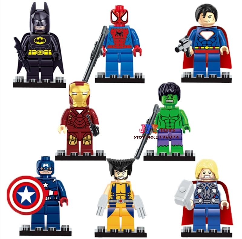 80pcs Starwars Super Heroes Spider She-hulk Iron Man Hulk Building Block Brick Friends For Gift Games Children Toys Iluminador 50% OFF Blocks Toys & Hobbies