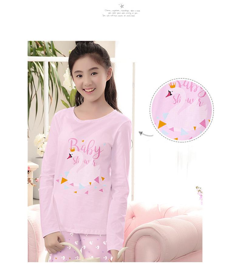 2017 Big Children Pajamas Set Girls Underwear Sets Long Sleeve ... edadceff2