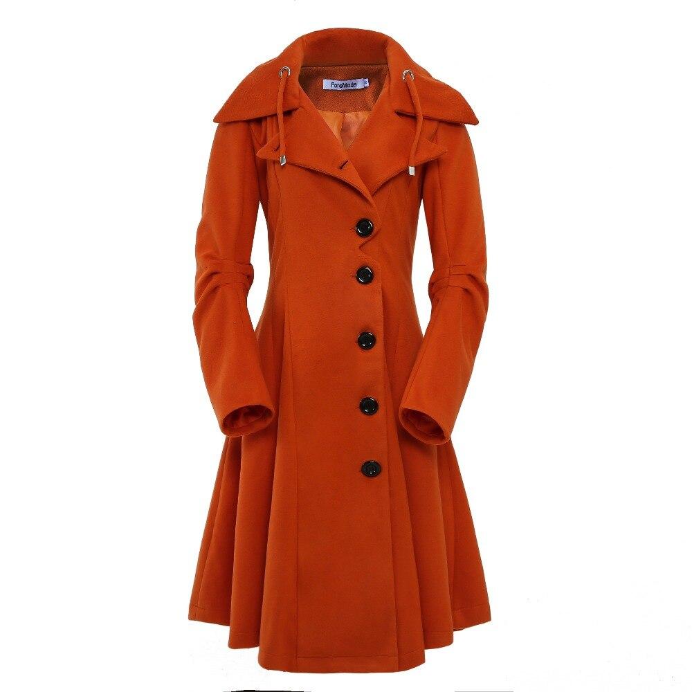 ForeMode Turn down Collar Single Breasted Slim Coats Women Spring Overcoat Women Irregular Hem Female S