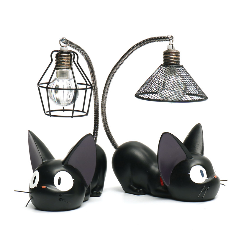 Small Cat Night Light Cartoon Ornaments Collection Children Kid Bedside Reading Table Night Lighting Lamp Deocr Gift