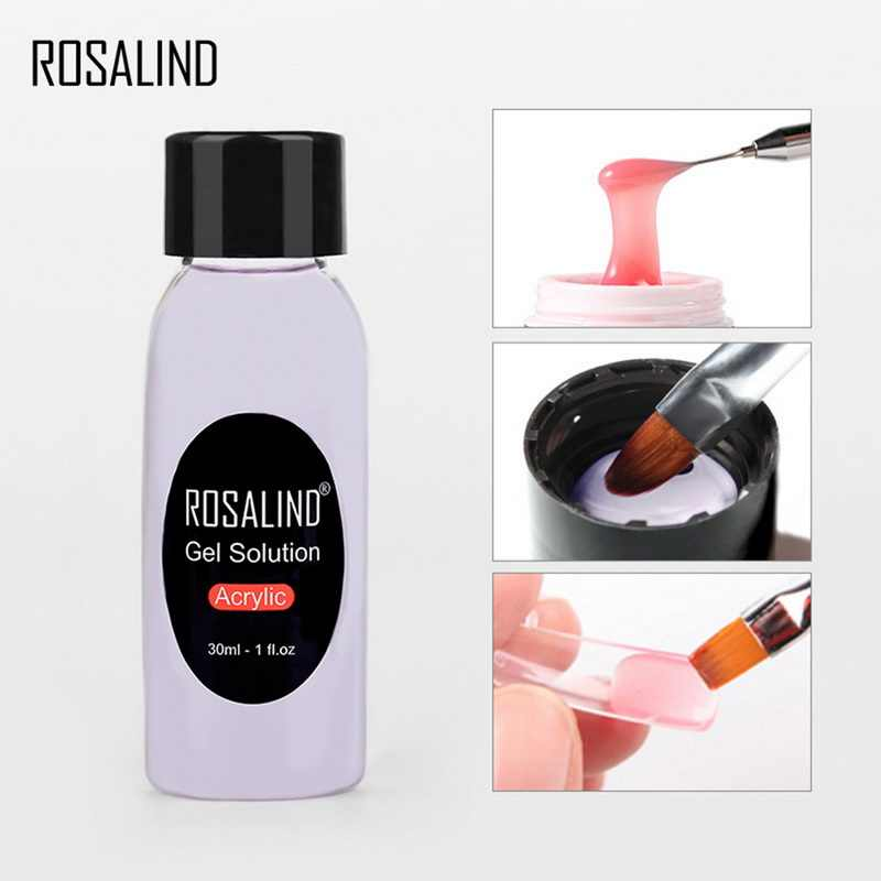 Rosalind New 30ml Acrylic Gel Solution Cleaning Water Gel Clean Liquid Gel Cleanser Fluid Extension Glue Cleaning Water Manicure