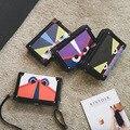 Monster eye famous brand Retro Minimalist Crossbody Small Women Shoulder Bag Women Messenger Bag diamond check Nubuck leather