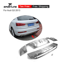 Stainless Steel Front + Rear Bumper Lip Diffuser Guard For Audi Q3 2013
