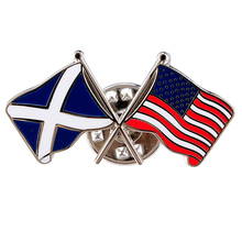 Custom Metal Country Flag Pin with Butterfly Clutch Zinc Alloy Badge